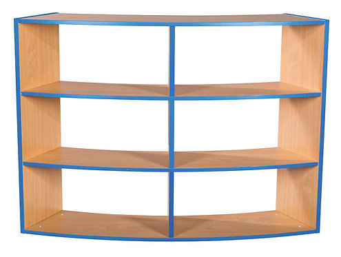 3 Tier Curved Open Back 2+2+2 Shelf Unit