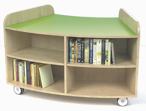 750mm High Junior Curved Bookcase