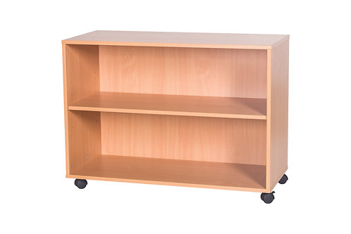 600mm Open Shelf - Mobile - Grey Wood/Grey Edge