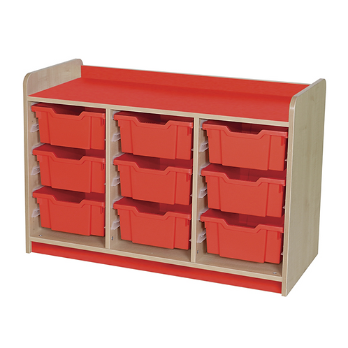 KubbyClass Triple Column Combination Tray Unit (9x X2 Trays)