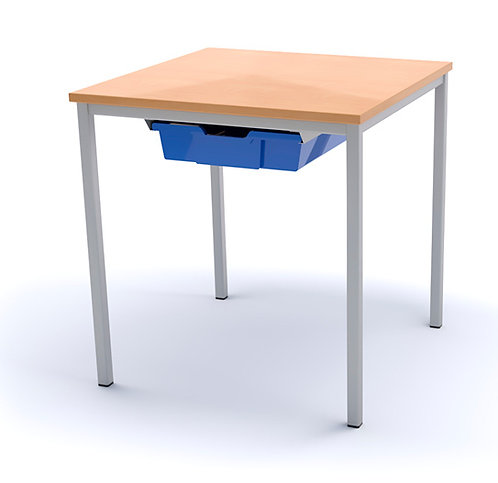600mm x 600mm Classroom Table with Tray