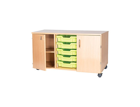 5 High 5 Tray Triple with Cupboards - Mobile