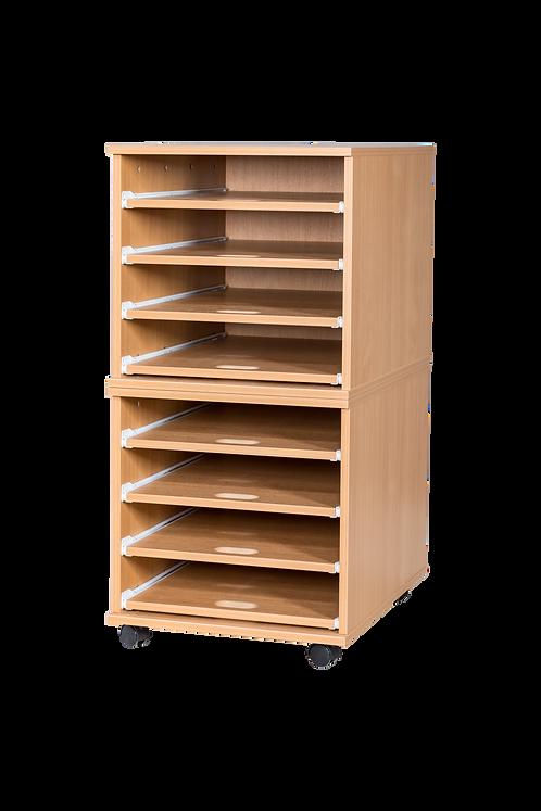 8 Sliding Shelves A2 Paper Storage - Mobile