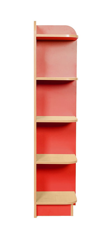1500mm High KubbyClass Right Hand Corner Bookcase - Maple/Maple Finish