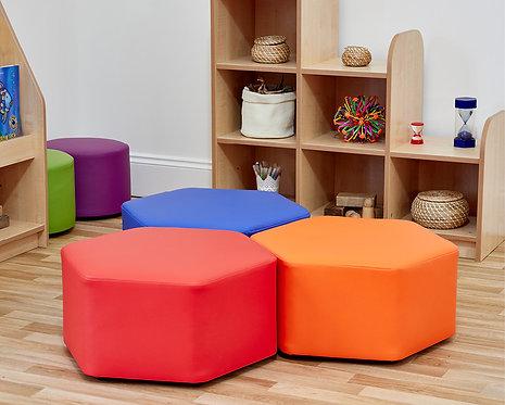 Large Hexagon Foam Seats - Set of Three