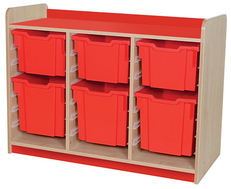 KubbyClass Triple Column Combination Tray Unit (3x X3, X4 Trays)