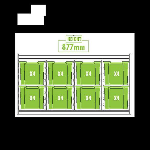 KubbyClass Triple Column Combination Tray Unit (8 x X4 Trays)