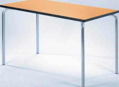 Equation Modular Table - 1200mm x 600mm - 600mm High -  Blue Frame - Beech Top
