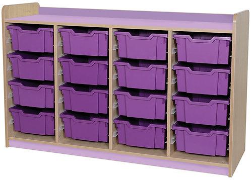 KubbyClass Triple Column Combination Tray Unit (16x X2 Trays)
