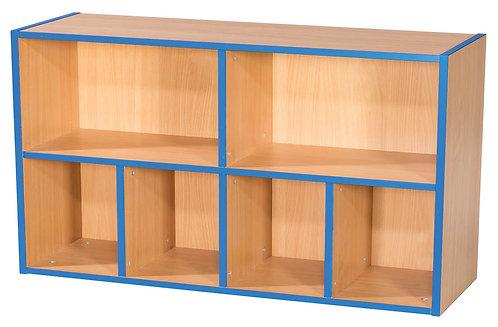 2 Tier 2+4 Shelf Unit