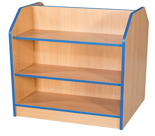 750mm Wide Double Sided Bookcase with Adjustable Shelves