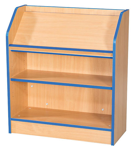 750mm Wide Library Bookcase with Angled Top Shelf