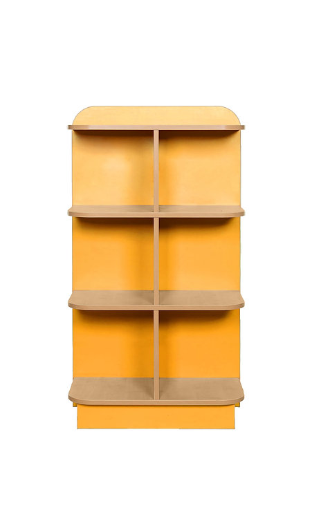 1250mm High KubbyClass D-End Bookcase - Maple/Maple