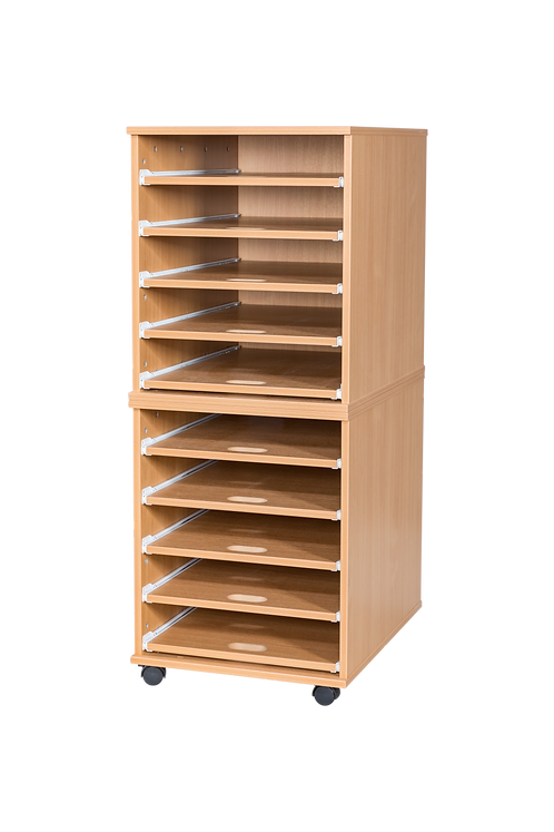 10 Sliding Shelves A2 Paper Storage - Mobile