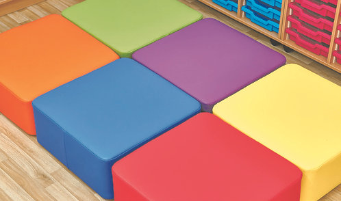 Large Square Foam Seats - Set of Six 250mm