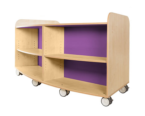 750mm High Curved Bookcase