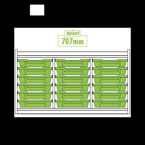 KubbyClass Triple Column 18 Tray Unit