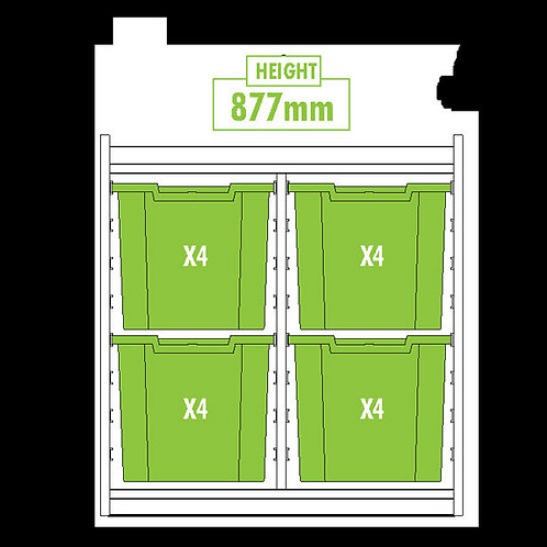 KubbyClass Double Column Combination Tray Unit (4x X4 Trays)
