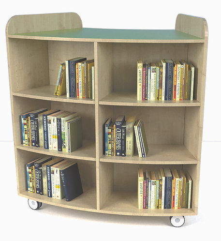 1250mm High Junior Curved Bookcase