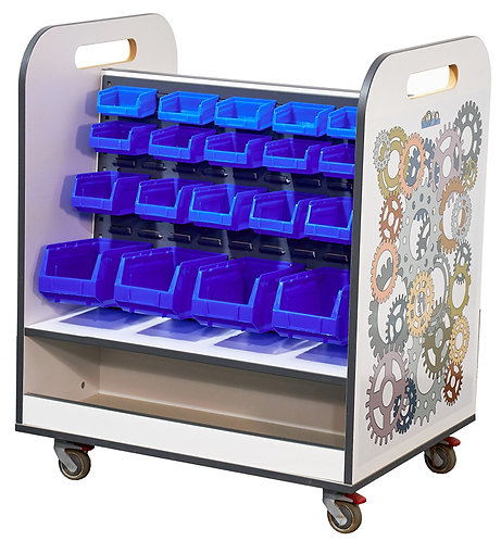 MakerTeam Double Sided Components Trolley