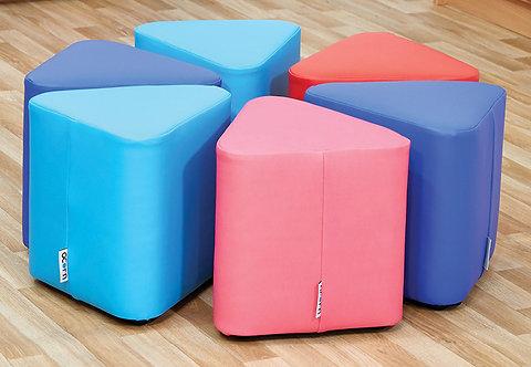 Mini Wedge Foam Seats - Set of Six
