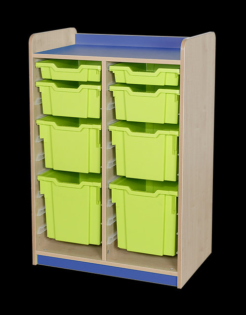 KubbyClass Double Column Combination Tray Unit (2x std,X2,X3,X4 Trays)