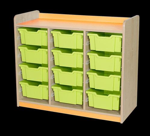 KubbyClass Triple Column Combination Tray Unit (15x X2 Trays)
