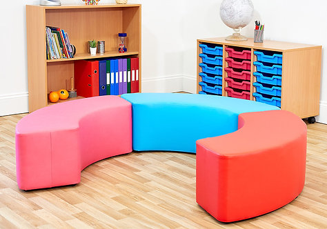 Large Curve Foam Seats - Set of Three