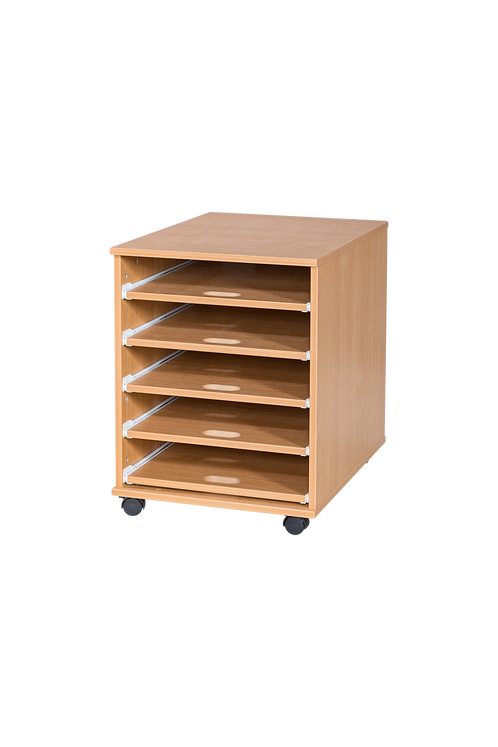 5 Sliding Shelves A2 Paper Storage - Mobile