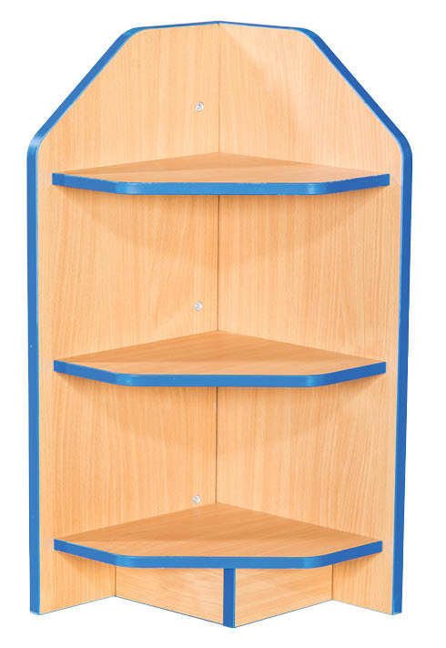 External Fixed Shelf Corner Bookcase
