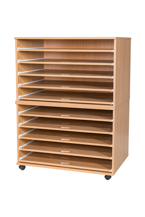 10 Sliding Shelves A1 Paper Storage - Mobile