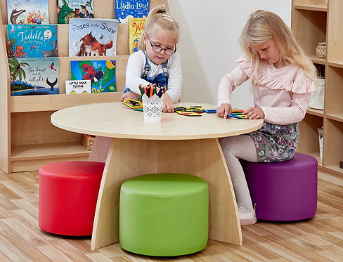 Activity & Reading Table with Four Dot Seats