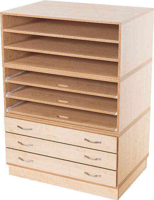 KubbyClass 3x - Fixed - 3x Sliding - 3x Fixed Shelf Unit