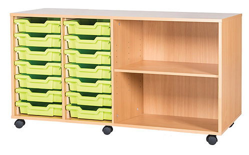 14 Tray Quad with Shelf