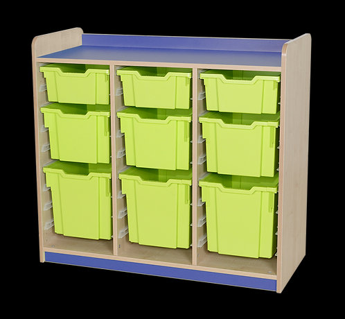 KubbyClass Triple Column Combination Tray Unit (4 x X2,X3,X4 Trays)