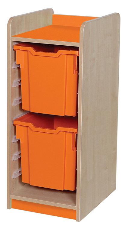 KubbyClass Single Column Combination Tray Unit (2x X4 Trays)