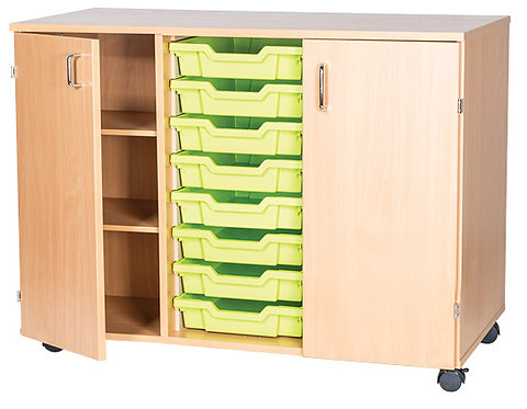 8 Tray Triple with Cupboards