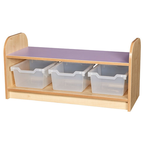Low Level 1 Tier Tray Unit with Open Back