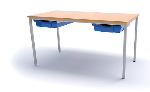 1200 x 600mm Classroom Table with 2 Trays