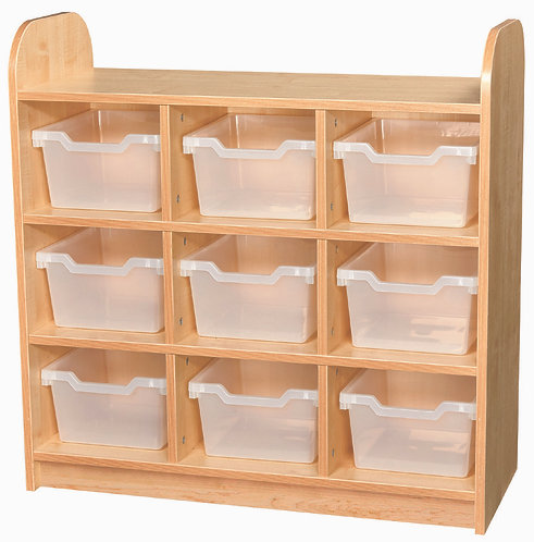 3 Tier Tray Cube Unit with Back