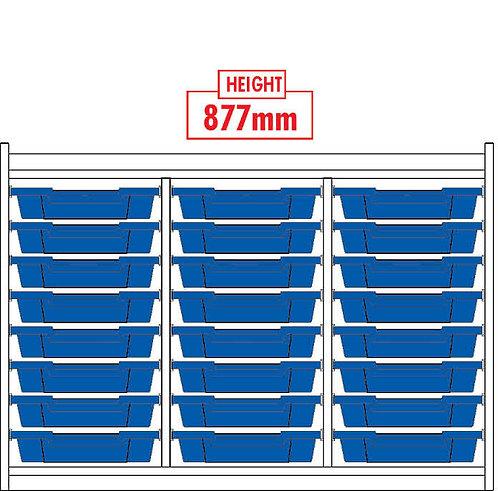 KubbyClass Triple Column 24 Tray Unit