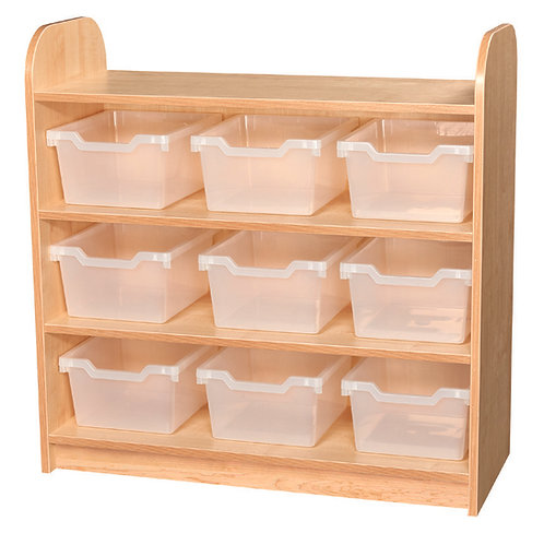 3 Tier Tray Unit with Back