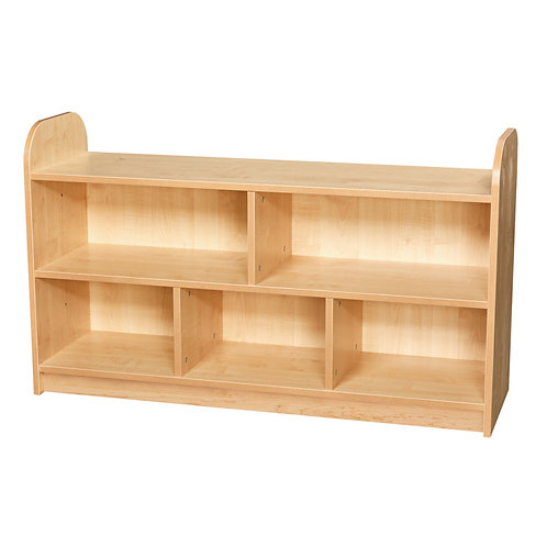 2 Tier Extra Wide Shelving Unit with Back