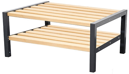 900mm Double Bench with Shoerack