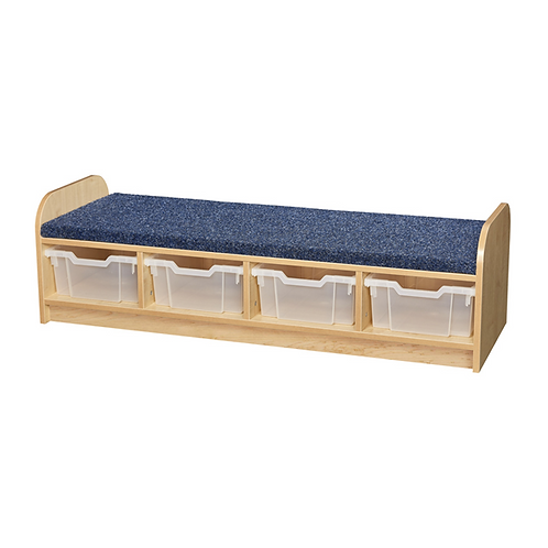 Carpeted Cloakroom Seat