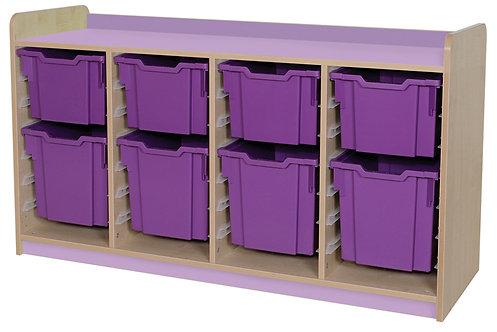 KubbyClass Triple Column Combination Tray Unit (4x X3, 4x X4 Trays)