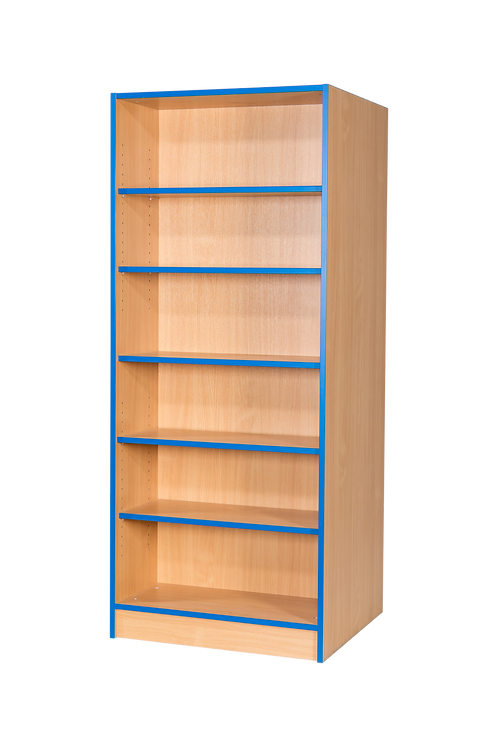 750mm Wide Double Sided Flat Top Bookchase with Adjustable Shelves