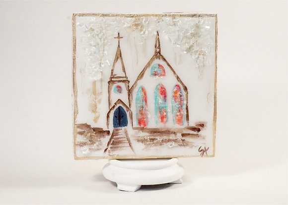 Church on Wood or Canvas -  Style 1