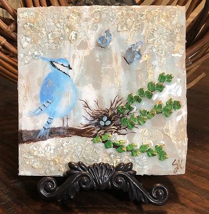 Blue Jay Painting On Wood