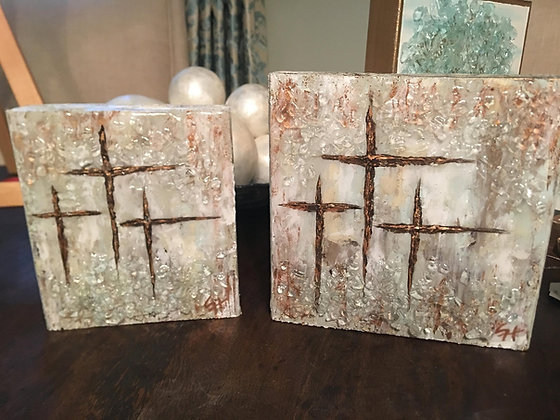 Neutral Tri-Cross on Wood or Canvas